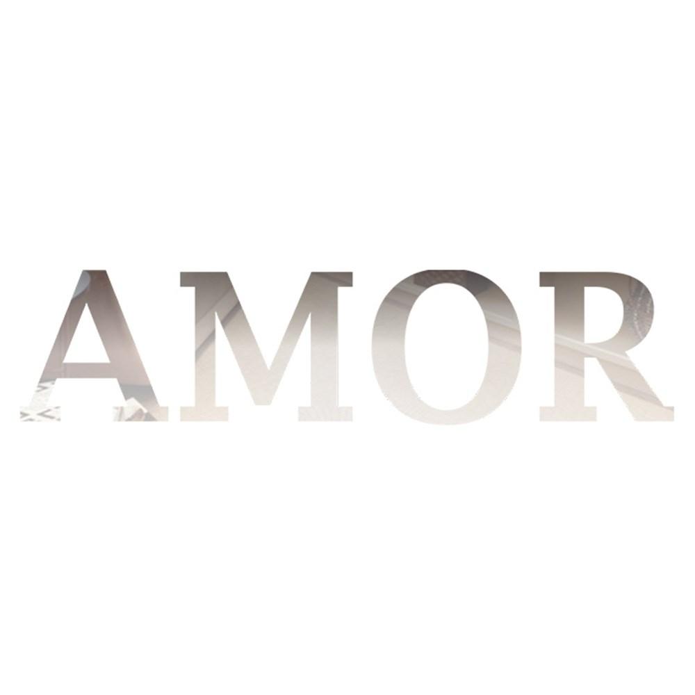 Palavra em Acrílico Espelhado - Amor