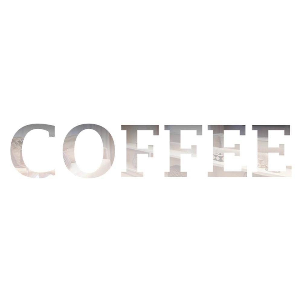 Palavra em Acrílico Espelhado - Coffee