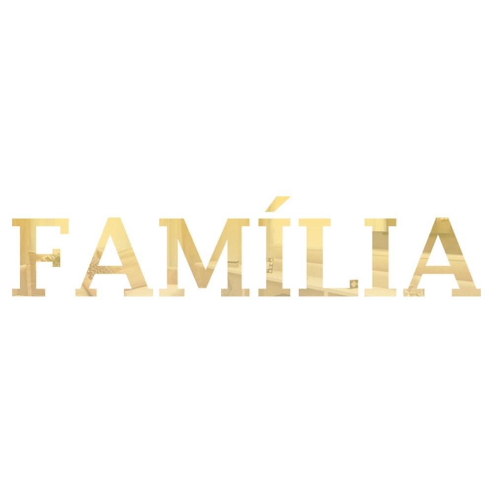 Palavra em Acrílico Espelhado - Família