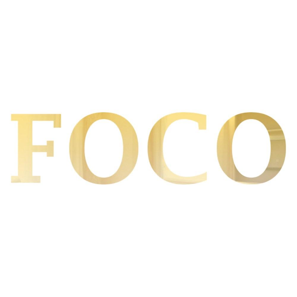 Palavra em Acrílico Espelhado - Foco