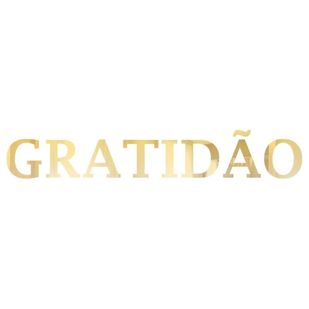 Palavra em Acrílico Espelhado - Gratidão