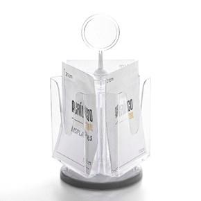 Porta Folheto Giratório com Bolsa A4 Vertical (21x30cm)