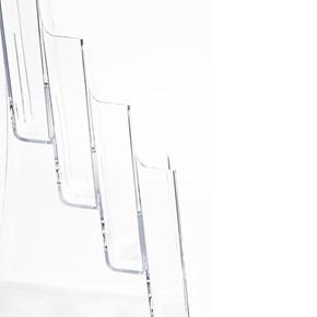 Porta Folheto Quádruplo com Bolsas A4 Vertical (21x30cm)