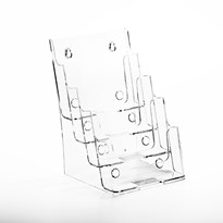 Porta Folheto Quádruplo com Bolsas A5 Vertical (15x21cm)