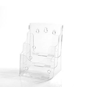 Porta Folheto Triplo com Bolsas A5 Vertical (15x21cm)