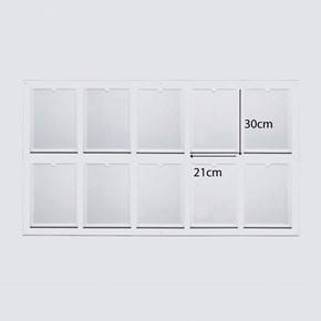 Quadro Informativo em Acrílico com 10 Bolsas A4 Vertical