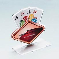 Troféu em Acrílico Para Campeonato de Poker